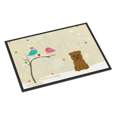 Christmas Presents Between Friends Glen of Imal Doormat Rug Size: 16 x 23, Color: Tan