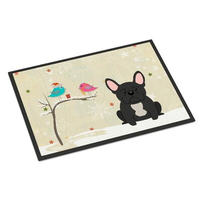 Christmas Presents Between Friends French Bulldog Doormat Rug Size: 16 x 23