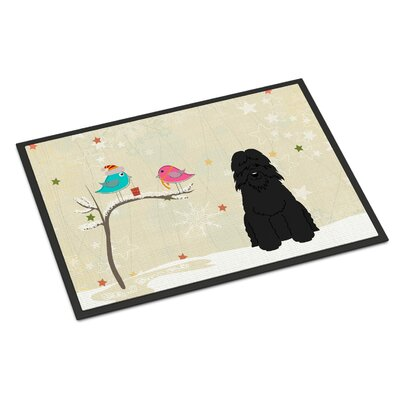 Christmas Presents Between Friends Bouvier Des Flandres Doormat Rug Size: 16 x 23