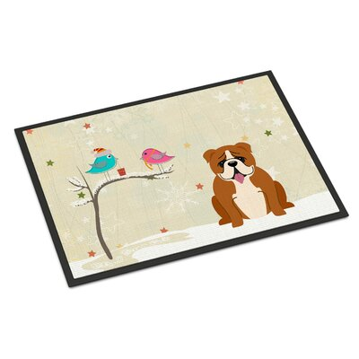 Christmas Presents Between Friends English Bulldog Doormat Rug Size: Rectangle 16 x 23