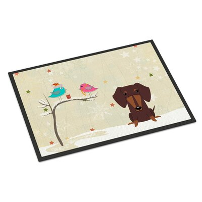 Christmas Presents Between Friends Dachshund Doormat Rug Size: 16 x 23
