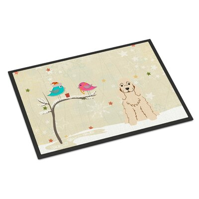 Christmas Presents Between Friends Cocker Spaniel Doormat Mat Size: Rectangle 2 x 3, Color: Buff