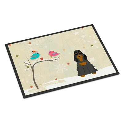 Christmas Presents Between Friends Cocker Spaniel Doormat Rug Size: Rectangle 16 x 23