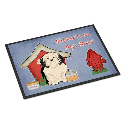 Dog House Lowchen Doormat Rug Size: Rectangle 16 x 23