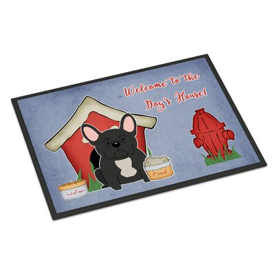 Dog House French Bulldog Doormat Rug Size: 16 x 23