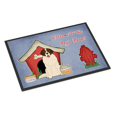Dog House Moscow Watchdog Doormat Rug Size: Rectangle 16 x 23