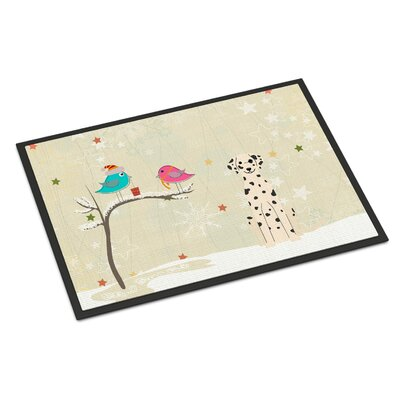 Christmas Presents Between Friends Dalmatian Doormat Mat Size: Rectangle 16 x 23