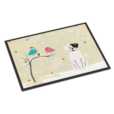 Christmas Presents Between Friends Boxer Cooper Doormat Rug Size: 16 x 23