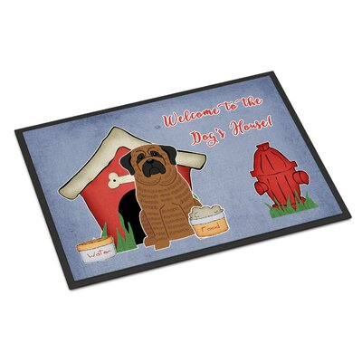 Dog House Mastiff Doormat Mat Size: Rectangle 16 x 23, Color: Brindle