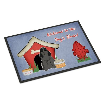 Dog House Cocker Spaniel Doormat Rug Size: 16 x 23