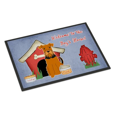 Dog House Airedale Doormat Rug Size: 16 x 23