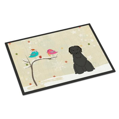 Christmas Presents Between Friends Briard Doormat Mat Size: Rectangle 1'6