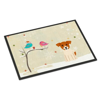 Christmas Presents Between Friends Jack Russell Terrier Doormat Mat Size: Rectangle 16 x 23