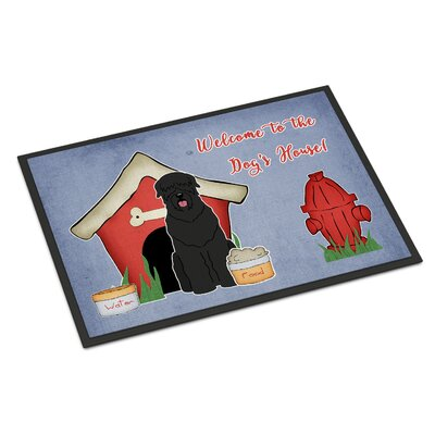 Dog House Russian Terrier Doormat Mat Size: Rectangle 16 x 23