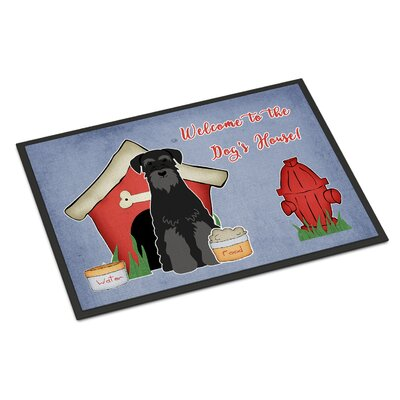 Dog House Standard Schnauzer Doormat Mat Size: Rectangle 16 x 23, Color: Black