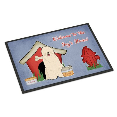 Dog House South Russian Sheepdog Doormat Rug Size: Rectangle 16 x 23