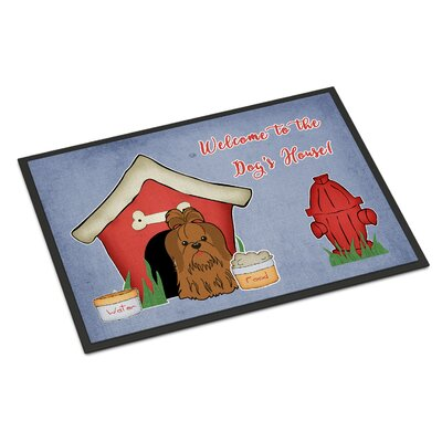 Dog House Shih Tzu Doormat Rug Size: 16 x 23, Color: Chocolate