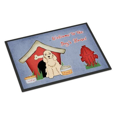 Dog House Cocker Spaniel Doormat Mat Size: Rectangle 2 x 3, Color: Buff