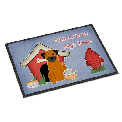 Dog House Border Terrier Doormat Mat Size: Rectangle 16 x 23