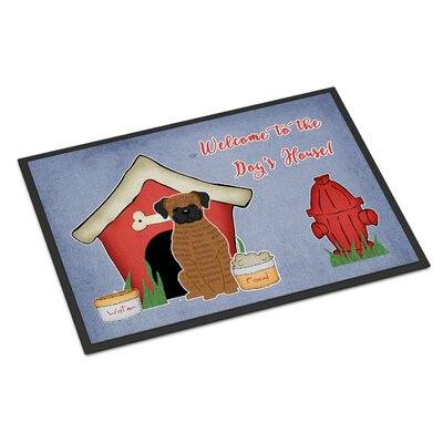 Dog House Boxer Doormat Rug Size: 16 x 23
