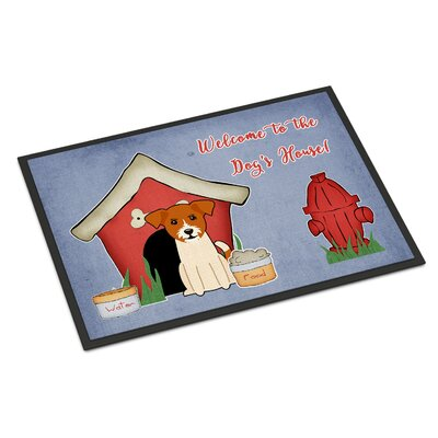 Dog House Jack Russell Terrier Doormat Rug Size: Rectangle 16 x 23