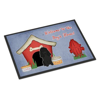 Dog House Poodle Doormat Color: Black, Rug Size: 2 x 3