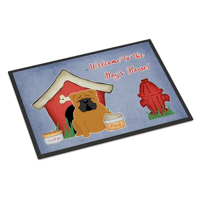 Dog House English Bulldog Doormat Rug Size: Rectangle 16 x 23