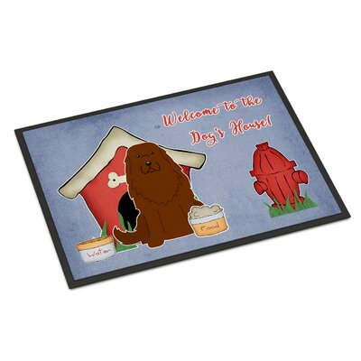 Dog House Caucasian Shepherd Dog Doormat Rug Size: Rectangle 16 x 23