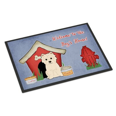 Dog House Westie Doormat Mat Size: Rectangle 16 x 23