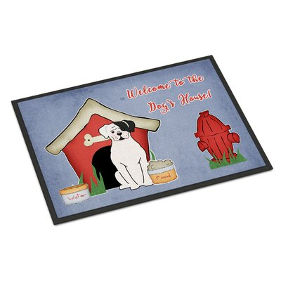 Dog House Boxer Cooper Doormat Rug Size: Rectangle 16 x 23