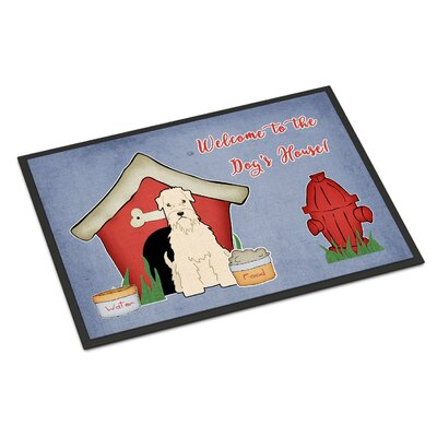 Dog House Soft Coated Wheaten Terrier Doormat Rug Size: 16 x 23