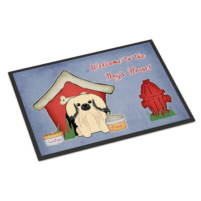 Dog House Pekingnese Doormat Mat Size: Rectangle 16 x 23