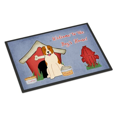 Dog House Central Asian Shepherd Dog Doormat Rug Size: 16 x 23