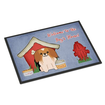 Dog House Pekingnese Doormat Rug Size: Rectangle 16 x 23