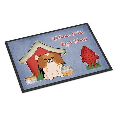 Dog House Pekingnese Doormat Rug Size: 16 x 23