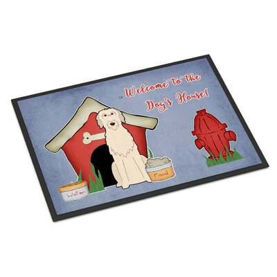 Dog House Irish Wolfhound Doormat Rug Size: 16 x 23