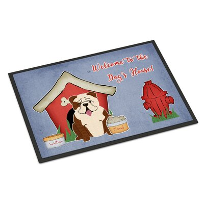 Dog House English Bulldog Doormat Rug Size: 16 x 23
