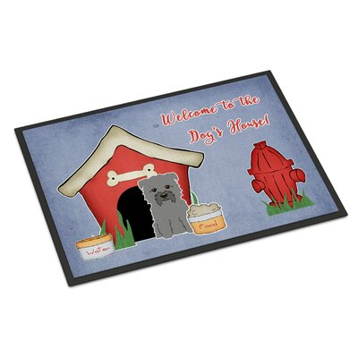 Dog House Glen of Imal Doormat Rug Size: 16 x 23, Color: Gray