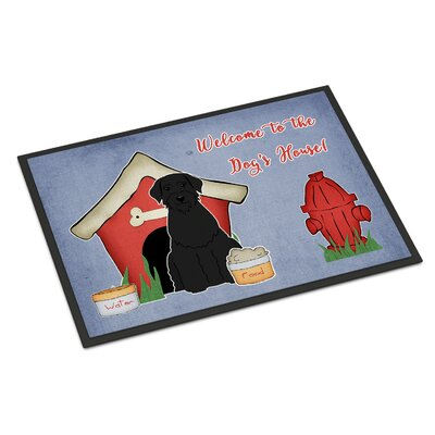 Dog House Giant Schnauzer Doormat Rug Size: Rectangle 16 x 23