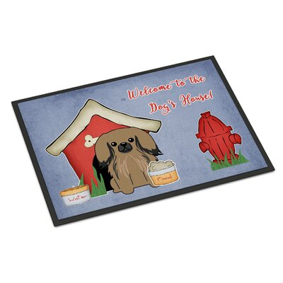 Dog House Pekingnese Doormat Rug Size: Rectangle 16 x 23