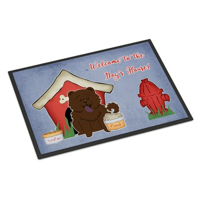 Dog House Chow Chow Doormat Mat Size: Rectangle 16 x 23, Color: Chocolate