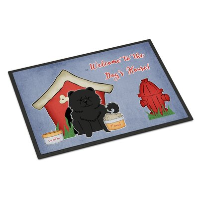 Dog House Chow Chow Doormat Color: Black, Rug Size: 2 x 3