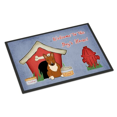Dog House Bull Terrier Doormat Rug Size: Rectangle 16 x 23
