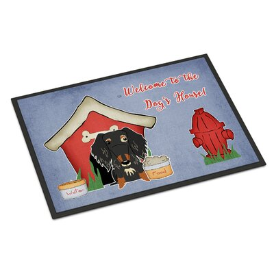 Dog House Wire Haired Dachshund Dapple Doormat Mat Size: Rectangle 16 x 23