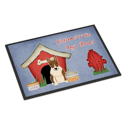 Dog House Bull Terrier Doormat Mat Size: Rectangle 16 x 23