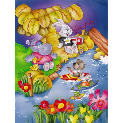 Animals Kayaking 2-Sided Garden Flag APH0978GF