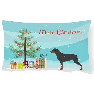 Rottweiler Indoor/Outdoor Lumbar Pillow