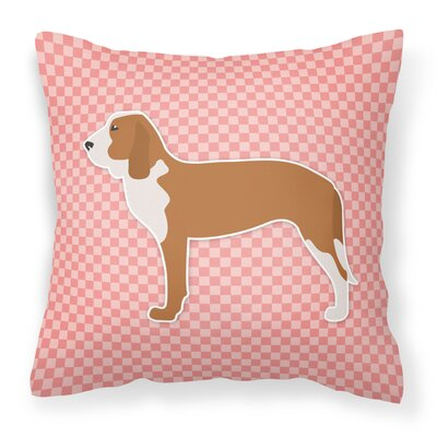 Spanish Hound Indoor/Outdoor Throw Pillow Size: 18 H x 18 W x 3 D, Color: Pink