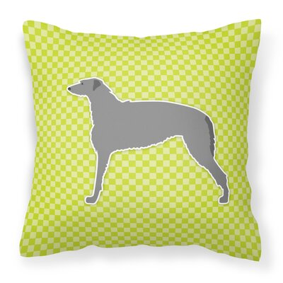 Scottish Deerhound Indoor/Outdoor Throw Pillow Size: 18 H x 18 W x 3 D, Color: Green
