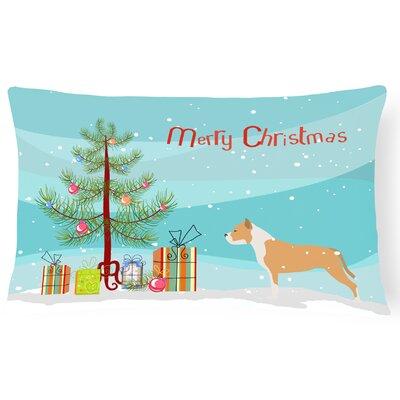 Staffordshire Bull Terrier Indoor/Outdoor Lumbar Pillow